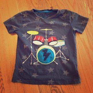 Mini Boden drums t shirt 5-6